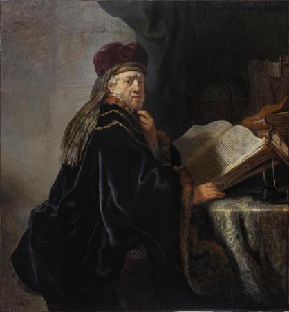 Učenec ve studovně