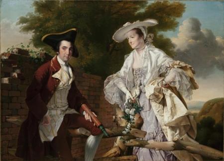 Podobizna Petera Pereze Burdetta a jeho první ženy Hannah