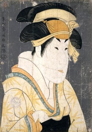 Segawa Kikunodžó III. v roli Ošizu, manželky Tanabe Bunzóa